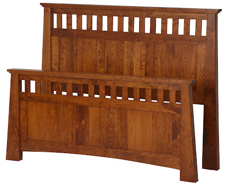 Teton Bed Frame in Antique Cherry