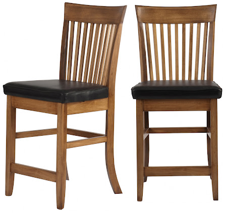 Lancaster Barstool in Autumn Oak with Leather Seat