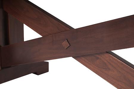 "90"" x 42"" Santego Table in Smoky Walnut, with Custom Base"