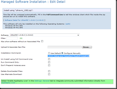 UltraVNC 1 0 8 2 Configuration for Deployment via KBOX