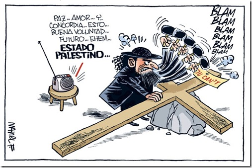 Palestinos-Israelies-Crucifixion