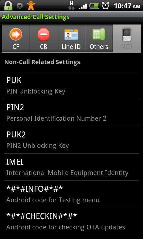 Advanced Call Settings+- screenshot