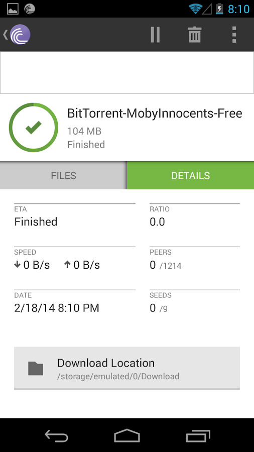 BitTorrent® - Torrent App - screenshot