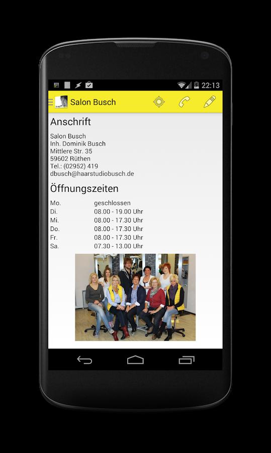 Salon Busch - screenshot