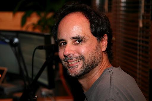 bill smiling at michael parlett's studio