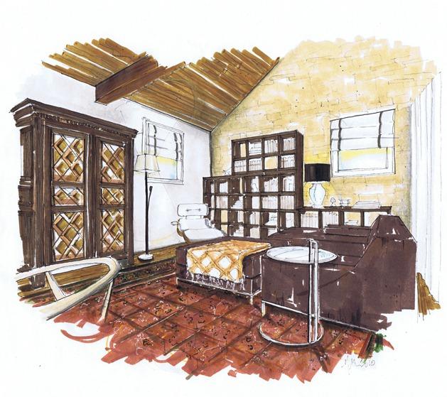 A Schematic Life: Small Space Study #3 Clandestine Barn