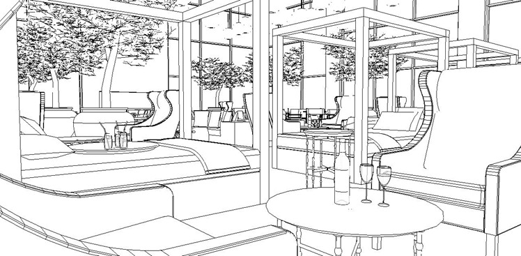 A Schematic Life Colouring Book Sky Lounge