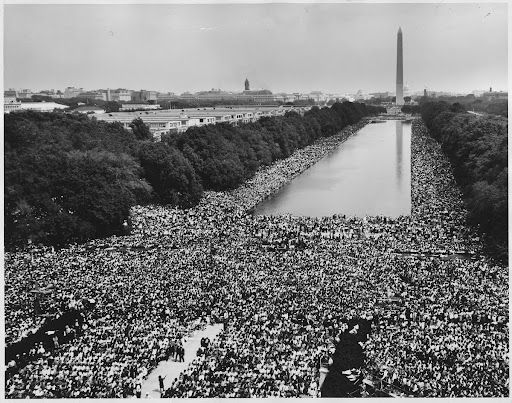 The March on Washington, View of the Reflecting Pool and the Washington Monument