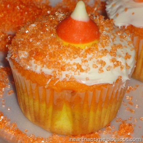 halloween cupcakes with sprinkles