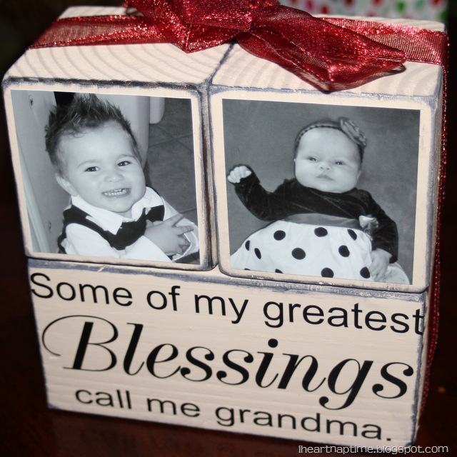 Gift Idea: Grandma Blocks! - I Heart Nap Time