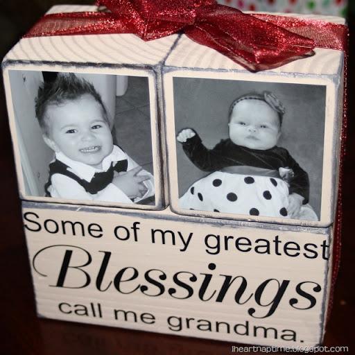 homemade gifts for grandma & Gift Idea: Grandma Blocks! - I Heart Nap Time