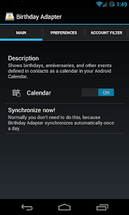 Birthday Calendar Adapter - screenshot thumbnail