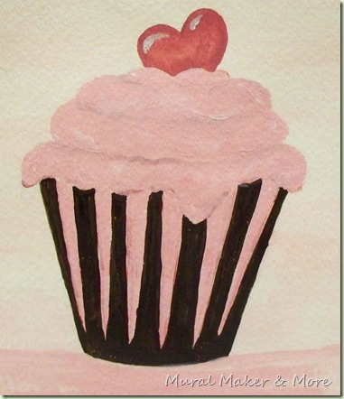 How To Paint A Simple Cupcake Just Paint It Blog