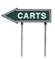 golf cart directional sign