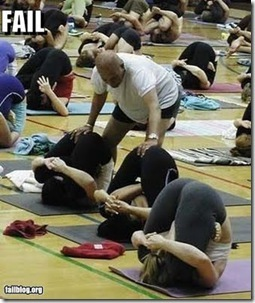 yoga pose fail