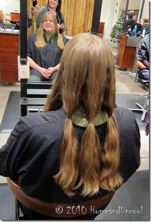 locks of love ponytails