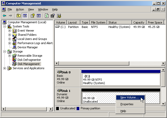 VMware: Add second disk to a Windows virtual machine