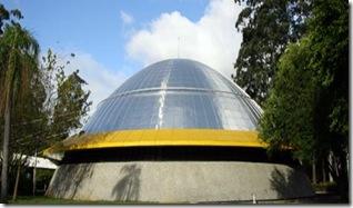 foto da fachada do Planetário do Ibirapuera