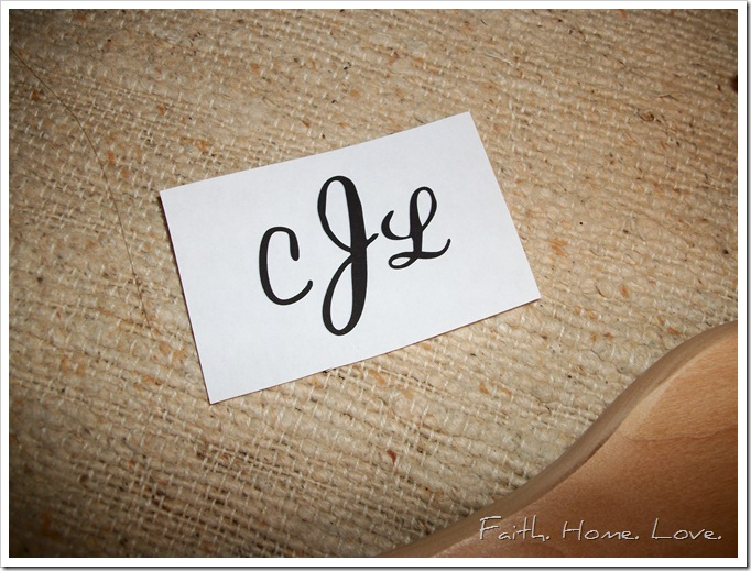 Personalized Hanger DIY Project as seen on Hill City Bride Virginia Wedding Blog
