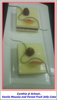 vanilla mousse with Forest Fruit Jelly Cake