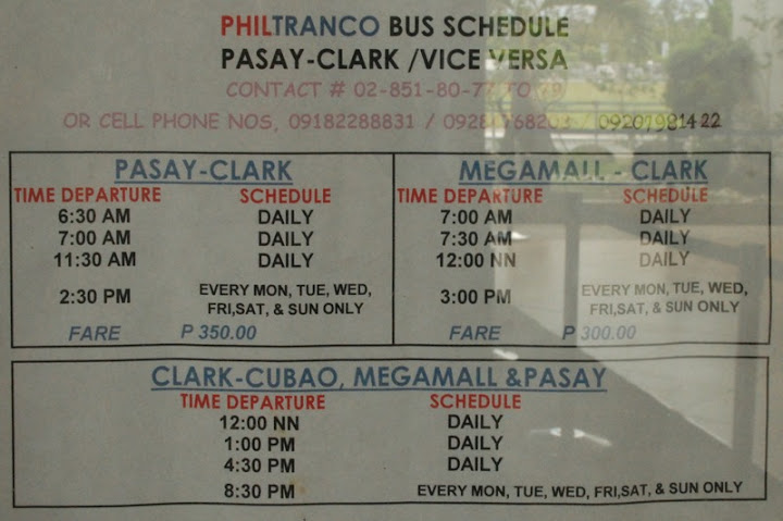 How to get to Clark Airport from Metro Manila - Lakas ng Trip