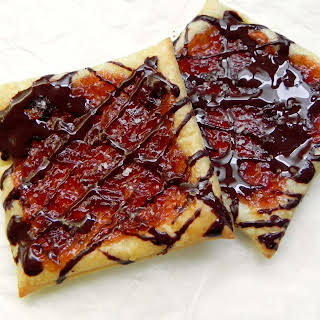 Easy Puff Pastry Jam Tarts for Two.