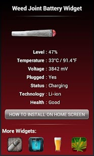 Weed Joint HD Battery Widget- screenshot thumbnail