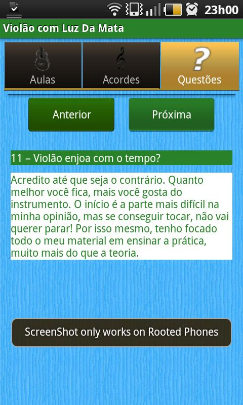 Violão com Luz Da Mata- screenshot