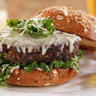 Wisconsin Asiago Veggie Burger with Kale Parmesan Caesar Salad