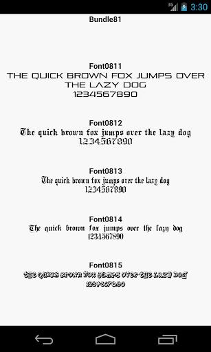 Fonts for FlipFont 81