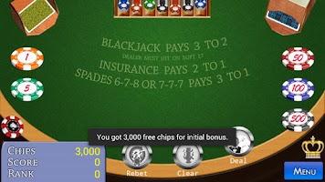 Screenshot of Spanish BlackJack