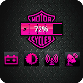 Harley Pink Battery Widget
