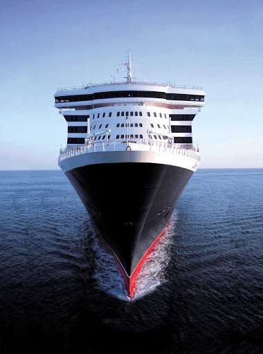 Cunard-Queen-Mary-2-at-sea - Queen Mary 2 features 17 decks and towers 200 feet above water, a height that is equal to a 23-story building.