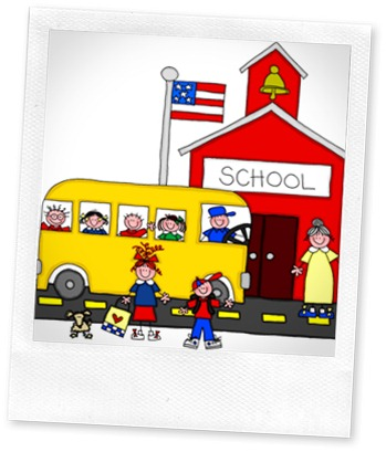 School-House with bus