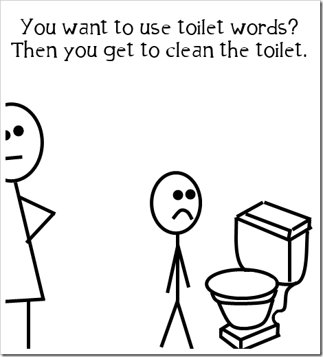 no toilet words allowed