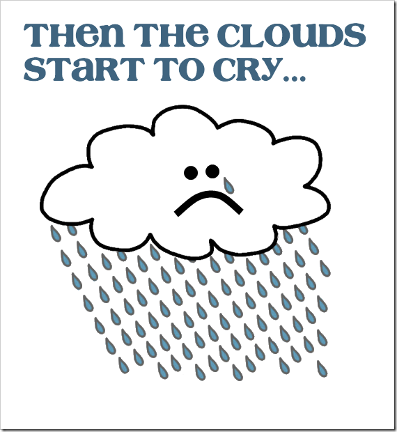 clouds start to cry