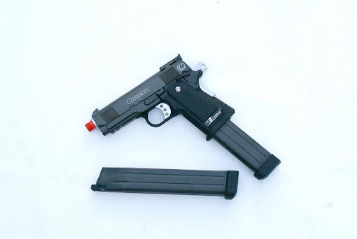 Airsoft Guns, WE baby hi-capa 3.8, airsoft green gas blowback pistol, gbb, pyramyd air