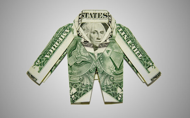 how to fold dollar into heart