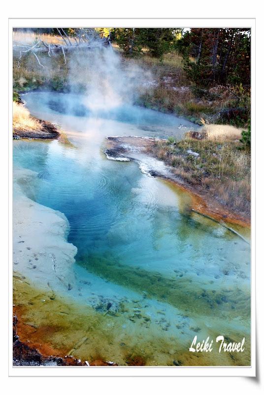 黃石公園溫泉池