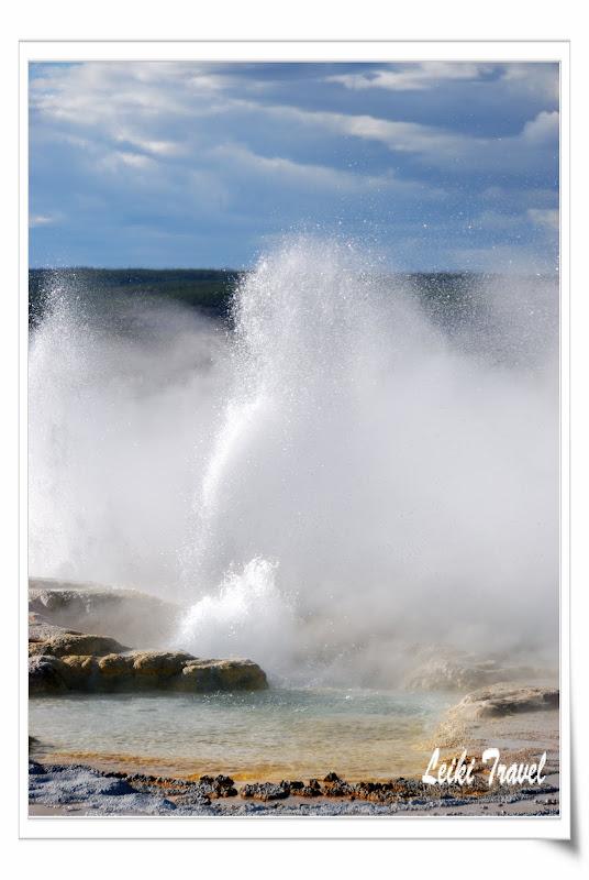 黃石公園 Clepsydra geyser