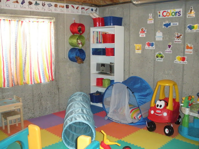 to a t makeshift playroom. Black Bedroom Furniture Sets. Home Design Ideas