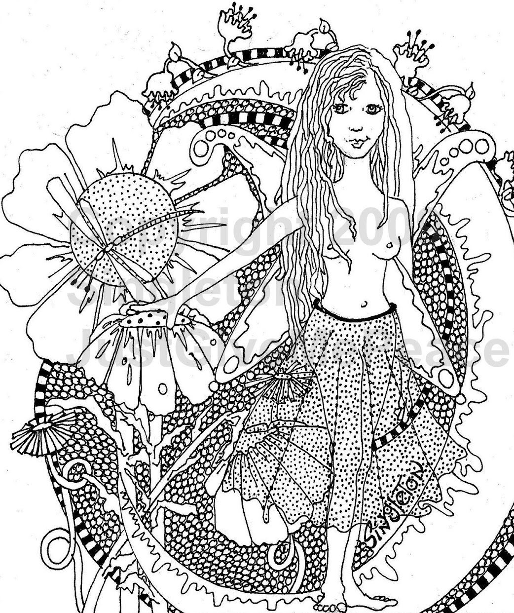 hippie coloring pages - photo#34