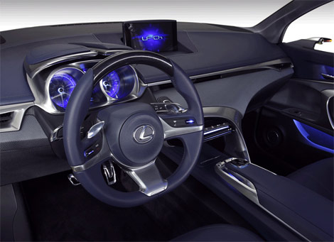 Interior hatchback Lexus