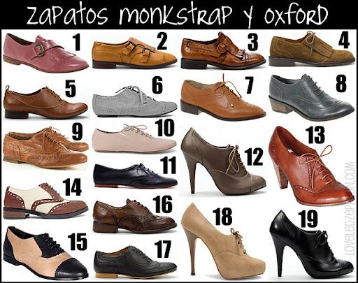 9f5f4412ac5 Zapatos oxford planos: Asos (7 y 8), Blanco (6, 10 y 14), Pull & Bear (15),  Bimba & Lola (11) Zara (5, 16 y 17) Topshop (9) Zapatos oxford con tacón:  Blanco ...