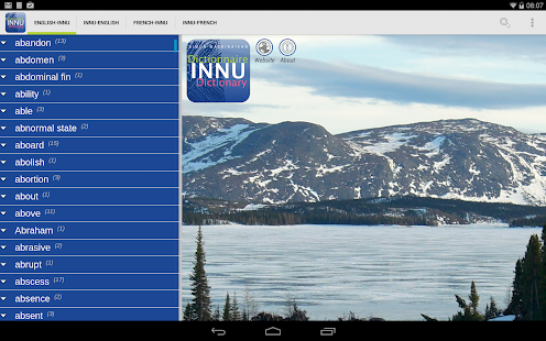 Innu Dictionary- screenshot thumbnail
