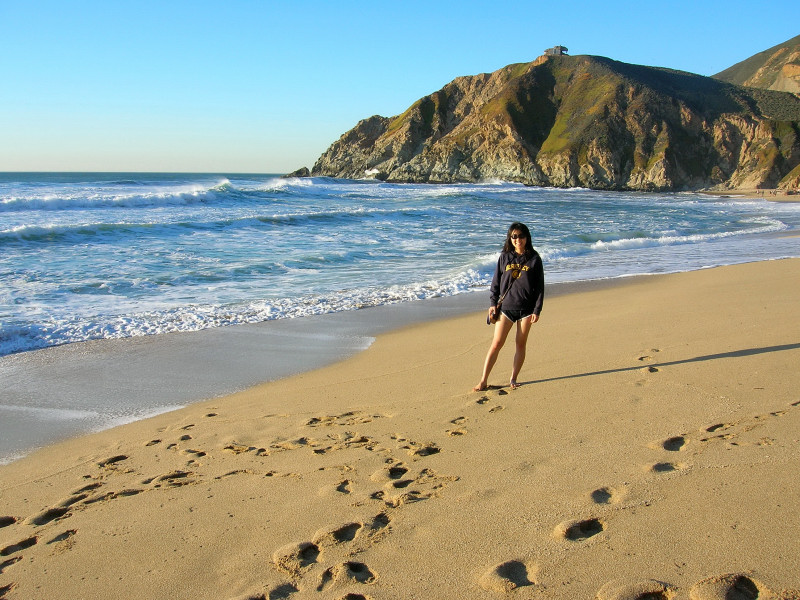 Evening At Gray Whale Cove On The Beach