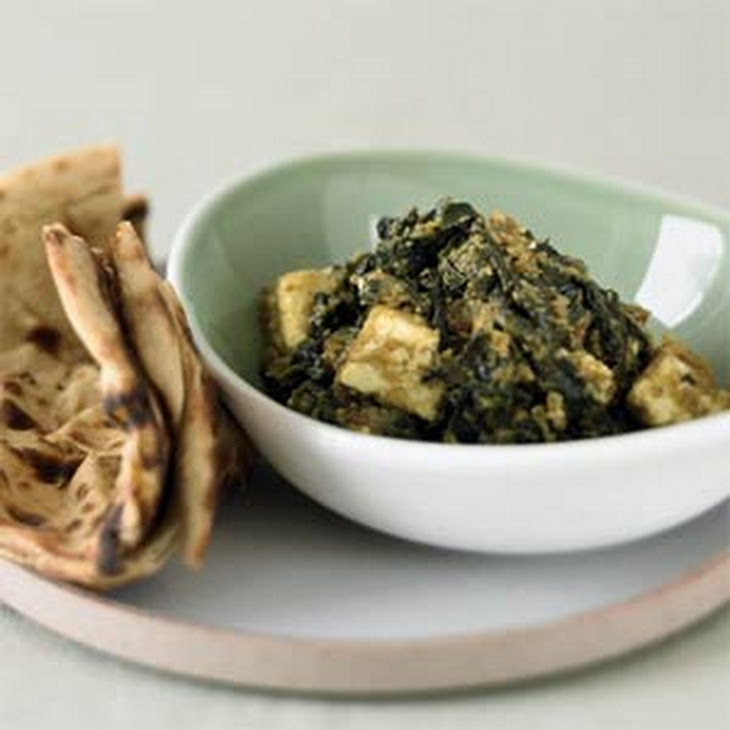 Curried Spinach with Fresh Cheese (Saag Paneer) Recipe