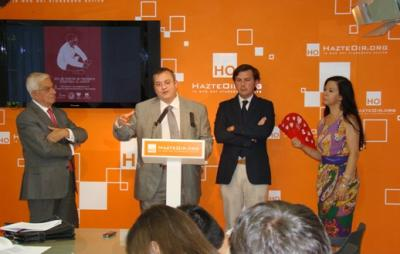 Diego Carriazo (ANDOC); Javier Pérez-Roldán (CJTM); Ignacio Arsuaga (HO) y Teresa Fernández de Córdoba (DAV)