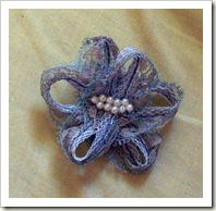 Simple Lace Pin with Pearls
