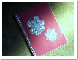 pink sparkle notebook